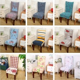 Wholesale cover chair sale - Hot sale Floral Printing Chair Cover Home Dining Multifunctional Chair Cover Removable Elastic Slipcovers Seat Covers T3I0119