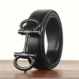 Wholesale Red Hot Jeans - 2018 hot new brand belts for women and men Fashion designer Genuine cow leather luxury Buckle belt Jeans English letter buckle printing