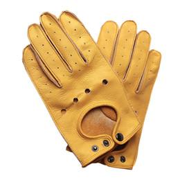 Коричневые кожаные перчатки мотоцикла онлайн-Мотоцикл Перчатки Guantes Мото Мужчины Коричневый Ретро Мотоцикл Перчатки Кожа Motorsiklet Полный Палец Старинные Мотоцикл Езда