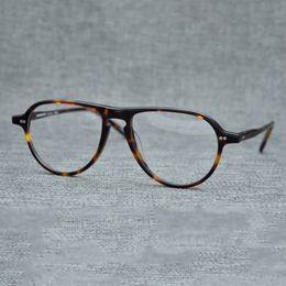 ecdc2b47cf Vazrobe Acetate Glasses Men Women Aviation Vintage Eyeglasses Frames Man Female  Brand Janpanese Prescription Spectacles Tortoise