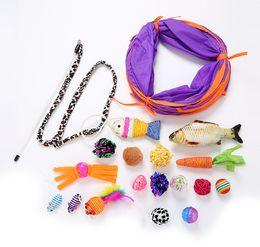 kits de trenes de juguete Rebajas Juego de juguetes para gatos Pequeñas bolas de plumas de ratón Regalos divertidos para mascotas de juguetes para mascotas de mascotas Kit de juguetes