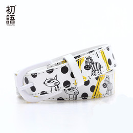 Wholesale Zebra Accessories - Toyouth 2017 Women Cartoon Belts Female Feather Waistband Cute Zebra Animal Image Printed White Belts Accessories