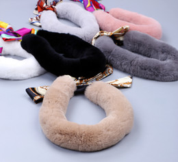 Wholesale Nice Rabbits - Womens Kids Genuine Real Rex Rabbit Fur Winter Scarf Wraps Scarves Snoods Korea Japan Style Warm Soft Wholesale Retail Nice