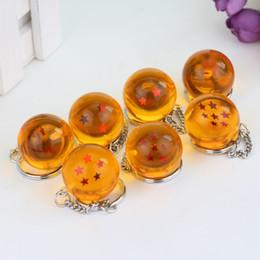 2019 brinquedos de carro estrela 7 pc / set Japonês Cartoons Ball Z 1-7 Estrelas Bolas Chaveiro Figuras Brinquedos Chaveiro Pingente de Carro Chaveiro Atacado desconto brinquedos de carro estrela
