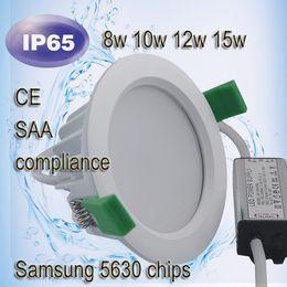 Argentina Lámpara empotrable empotrada IP65 Downlight COB 9W 15W 24W LED Spot Light Lámpara de techo para baño downlight de DHL supplier ip65 bathroom ceiling lights Suministro