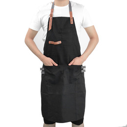 shop for kitchen Coupons - Aprons for Woman Men Cooking Bib Aprons Working Clothiing Men Kitchen Restaurant Apron Adjustable Shop Chef Workwear Black