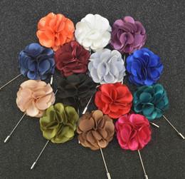 Mode für Männer passt Plug-in lange Brosche Handmade Boutonniere Stick Pin Herrenaccessoires Farbe Butyl Tuch Corsage von Fabrikanten