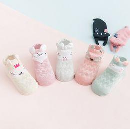 Wholesale Newborn Ankle Socks - Newborn Unisex Ankle Socks 2018 Trendy Baby Infants Animal Cotton Sweat absorption Sock High Quality Breathable absorbent Socks