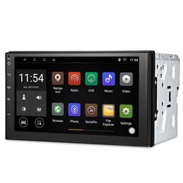 carro japonês dvd player Desconto Navegação GPS Android Universal Car DVD Player 2 Din tela de toque Bluetooth Car Stereo Radio Multimedia Player Suporte de Direção-roda RDS