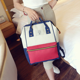 Wholesale Ladies Leather Laptop - 6colors choose student bag casual luxury designer handbags pu leather laptop backpack tote cross body bag women with zipper shoulder bag