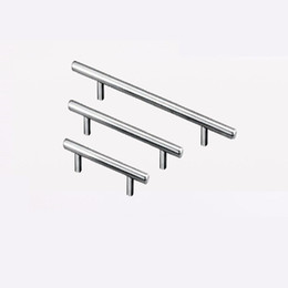 T Type Handles For Cupboard Door Drawer Wardrobe Shoe Cabinet Pulls Stainless Steel 3 Size Universal NNA477