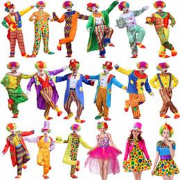 2019 clownkleider für frauen Umorden Halloween Kostüme Erwachsene Lustige Zirkus Clown Kostüm Frech Harlekin Uniform Kostüm Cosplay Kleidung für Männer Frauen günstig clownkleider für frauen