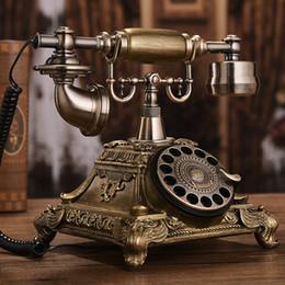 Téléphone européen antique en Ligne-Européen rétro téléphone antique rétro rotation disque fixe maison mode créatif américain téléphone