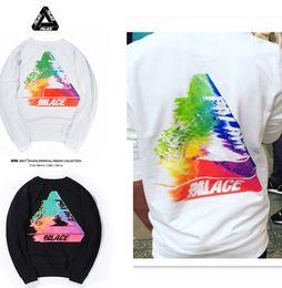 Wholesale Designer Sweaters Hoodies - 2018 Men's Triangle Hoodies PALACE Sweatshirts Causal Hip Hop Cool Designer Men Women Cotton Hoodie Long sleeve Sweater Outfoor Wear