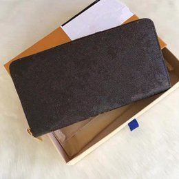 Wholesale Red Box Clutch - Free Shipping! Fashion designer clutch Genuine leather wallet with dust bag and box 60015 60017