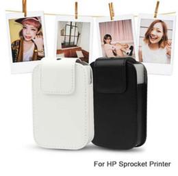 Cámara llevar bolsas online-NUEVA Moda de Cuero de LA PU de Almacenamiento de Viaje A Prueba de agua Estuche Portátil Funda Protectora Bolsa de Bolsa para HP Sprocket Photo Camera Printer