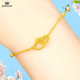 18k золото .999 Скидка 18K Pure Gold Bracelet Real 999 Solid Gold Bangle Refinement Heart Upscale Beautiful Trendy Classic Jewelry Hot Sell New 2018