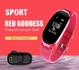 Wholesale Heart Rate Monitors Women - S3 sport watches Bluetooth Waterproof Smart Watch Fashion Women Ladies Heart Rate Monitor Fitness Tracker Smartwatch for Android IOS
