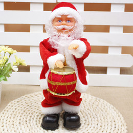 Wholesale Christmas Electric Santa - Christmas Festival Children Gifts Christmas Decor Ornaments Funny Music old man 30cm Electric Dancing Santa Claus