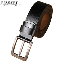 wholesale leather cowboy belts Coupons - Best YBT Men Belt Imitation leather Alloy Pin buckle Belt Cowboy Outdoor Sports Business affaris Fashion Casual
