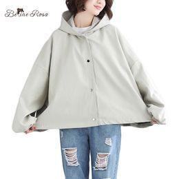 ff977a841c74 BelineRosa Casual Plus Größe Frauen Kleidung Korean Loose Style Süße Damen  Kaninchen Muster Herbst Winter Neue Mäntel NNDM0015 koreanische kleidung  für ...