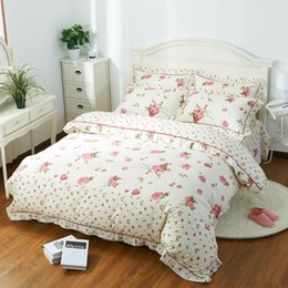 Wholesale Pillowcase Skirt - BEYOND CLOUD Bed Skirt Style 100% Cotton 3 4 Pieces Bedding Sets Twin Full Queen King Fashion Design Duvet Cover Pillowcase 005