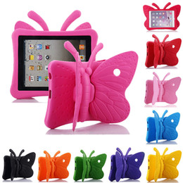 Discount tablet 4.4 kid - Butterfly Stand EVA Shockproof Tablet Cover for iPad 2 3 4 Air Air2 mini Pro New iPad 2017 2018 9.7inch Kids Case
