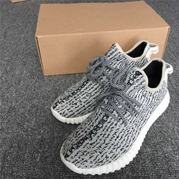 Wholesale Real Dive - REAL BOOST TURTLE DOVE 350 BOOST AQ4832 FACTORY GREY KANYE SHOES 350 BOOST PIRATE BLACK RUNNING SHOES WITH BOX