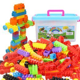 Wholesale Large Toy Bricks - 200Pcs Large Building Blocks Educational Puzzles Building Constructor Set Toys for Kids DIY Assembly Bricks with Storage Box