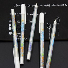 Wholesale Wholesale Wedding Albums - Wholesale- 1 PCS 0.8mm White Ink Photo Album Gel Pen Stationery Office Learning Cute Unisex Pen Wedding Pen Gift For Kids Writing Supplies