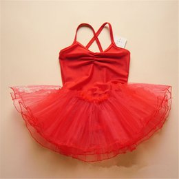 Wholesale dance dresses for kids - kids ballet dresses pageant tutus Spaghetti Strap girls dance party dress ballet tutu for children candy color free shipping in stock B11