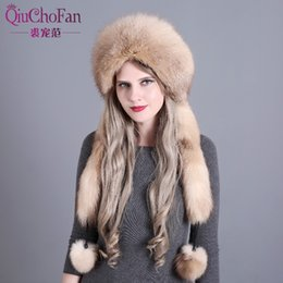 3e90f9727be Discount russian hat fur men - Women s Winter Hats Genuine Fox Fur   Rabbit Fur  Hat