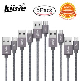 Wholesale Mirco Usb - High Quality Mirco USB cable data cables ( 1* 0.5m+ 3* 1m +1*1.5m 5PACK ) Charger Cord For Android Cellphone retail Package