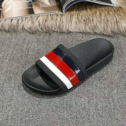 Wholesale Mens Fisherman Sandals - hot sale brand Men Beach Slide Sandals 2018 Summer Outdoor Slippers Mens Summer Beach Fashion slip-on designer sandals