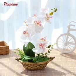 Orquídeas, potes on-line-Casamento Orquídea Borboleta Artificial vasos de plantas De Seda De Flores Decorativas em Vasos phalaenopsis orquídea bonsai para Casa Varanda Decoração