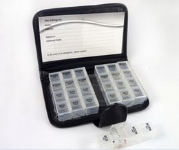 Cajas porta medicamentos online-Artículo caliente Diary Pill Box Portable 28 plazas Weekly 7 días Tablet Holder Medicine Storage Organizer Contenedor Case de dhl