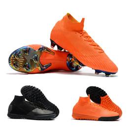 New Mens Soccer Cleats Superflyx 6 Elite TF Football Boots Orange Black  Mercurial Superfly VI Soccer Boots 360 Elite FG Soccer Shoes 7d2591e48