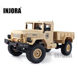 Wholesale Scale 16 - Children Toy 1 :16 Scale Rc Rock Crawler Off -Road 4wd Military Truck Rtr Remote Control Car Toy For Children
