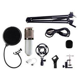 2019 оптовые беспроводные микрофоны для караоке Динамический конденсатор БМ-800 связал проволокой студию звука микрофона записи с держателем удара с набором держателя для записывая караоке набора КТВ