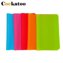Sehr tische online-3 STÜCKE 40x30 cm Silikon Tischsets Kinder Tischsets Rutschfeste Wasserdichte Sehr Dünne Flexible Silikon Tisch Pads