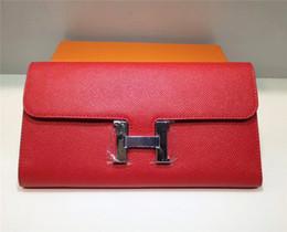 Saco de embreagem de couro de avestruz on-line-Ladies 'longo carteira de couro jantar saco de embreagem estrela com o mesmo parágrafo H carteira