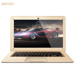 Wholesale Gold Intel - Amoudo Intel Core i5 CPU 8GB RAM+120GB SSD+500GB HDD Dual Disks Windows 7 10 System 14inch Ultrathin Laptop Notebook Computer