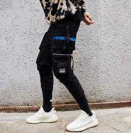 Wholesale sport hip hop pants woman - hip-hop street zipper casual pants hip-hop men women sports pants feet pants letters pocket Slim feet sports casual pantss couple pantss
