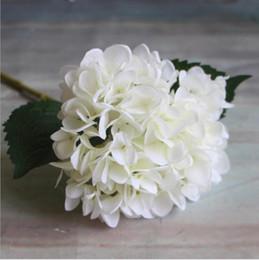 2019 enfeites de natal de 12 polegadas Artificial Hortênsia Flor haste haste 47 cm Falso Seda Única Toque Real Hortênsias 8 Cores para o Casamento Casa Festa Flores Decorativas