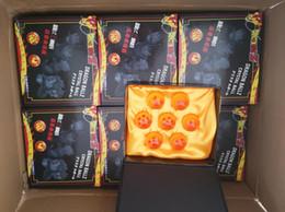 Estrela de dragonball concluída on-line-2018 Nova Animação DragonBall laranja azul 7 Estrelas sobre 3.5 CM Super Saiyan Dragon Ball Z Conjunto Completo Caixa de brinquedos Frete Grátis