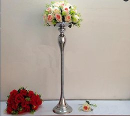 Wholesale Cheap Wedding Supplies Decorations - new product elegant cheap flower ball holder wedding road lead wedding centerpiece metal stand high tall T stage decoration