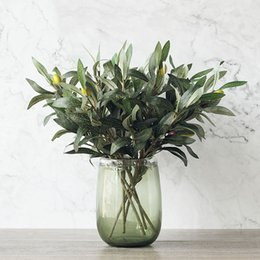 Olive decorations coupons promo codes deals 2018 dhgate coupon green artificial olive branch simulation plant olive home wedding decoration fake flower christmas decoration flower coupons junglespirit Gallery