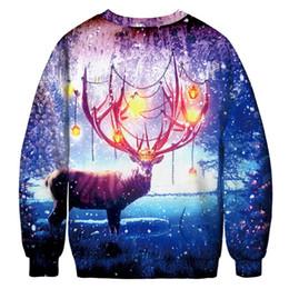 Canada 2018 12 style Santa Claus Sweat à capuche Noël 3D mode sweat-shirt M-XXL Noël wapiti chat Bikini Muscle Sweater Hommes Femme supplier elk sweater Offre