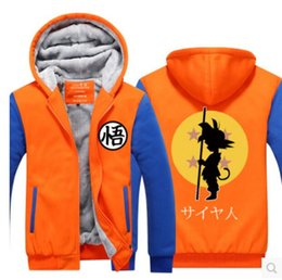 Wholesale Dragon Ball Hoodie - Wholesale dragon Dragon Ball Hoodie Monkey Wukong Encyclopedia cos clothing thickening and velvet jacket cartoon peripheral hooded jacket