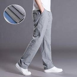 LFF 2018 nuovi uomini di arrivo estate autunno moda plus size cotone lino  pantaloni dritti pantaloni casual casuali pantaloni grasse sciolti pantaloni  di ... 20756d074dfb